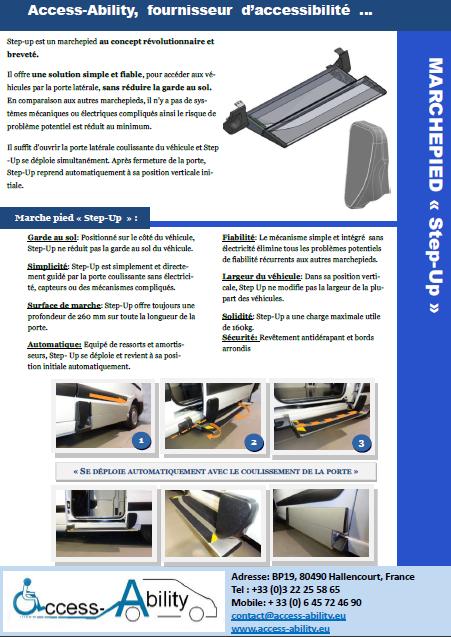Brochure Rampe pour Scudo Expert Jumpy TPMR