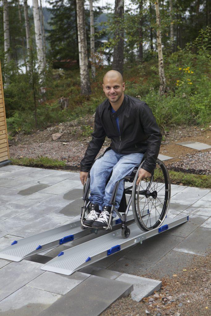 Rampes amovibles pour fauteuil roulant