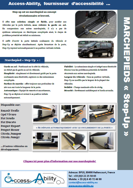 marchepied Fiat Ducato brochure