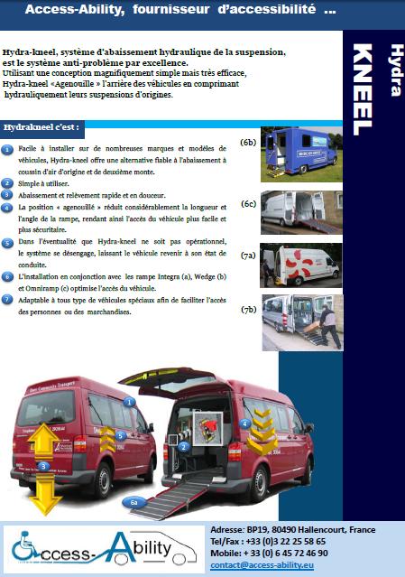 Brochure Abaissement hydraulique pour véhicule TPMR
