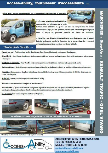 marchepied pour véhicule: marchepied Opel Vivaro brochure