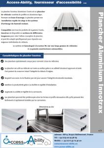 Brochure Plancher Aluminium véhicule TPMR