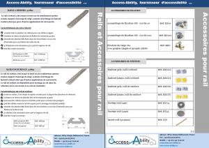 Brochure rails et accessoires pour rails (support ancrage siège tpmr)