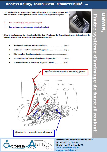 Brochure Système d'arrimage de fauteuil roulant