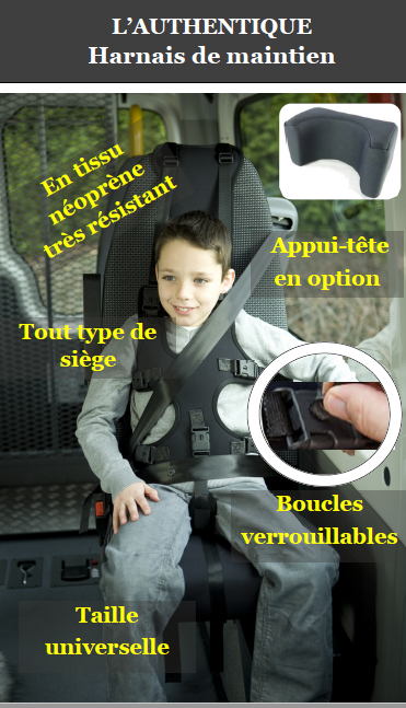 harnais de maintien gilet de posture pour voiture enfant autiste. Black Bedroom Furniture Sets. Home Design Ideas