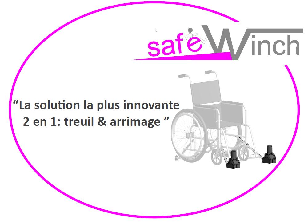 Treuil et arrimage pour fauteuil roulant safewinch