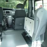 Élévateur TPMR aménagement véhicule Trafic