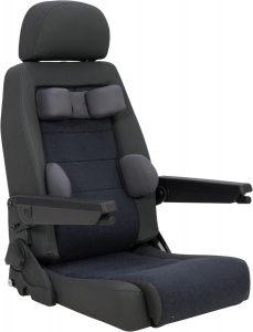 Sièges et accessoires pour embases pivotantes et fauteuil roulant Carony
