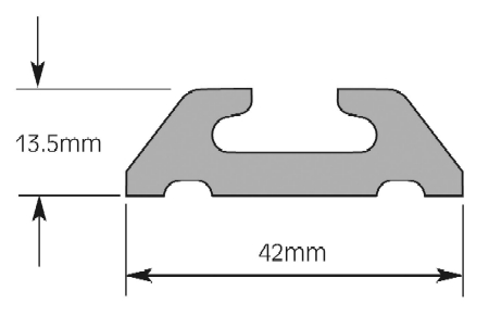 Rails for wheelchair accessible vehicles