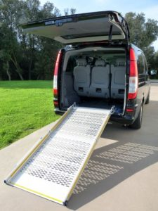 Fixed wheelchair ramp