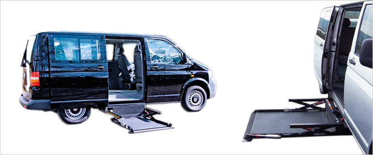 Under vehicle lift for wheelchair
