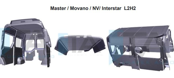 Garniture plastique Master Movano Interstar